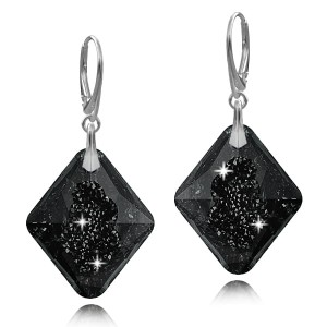 Kolczyki srebrne Swarovski Growing Crystals Silver Night